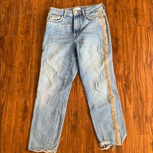 Bershka Snakeskin Mom Jeans